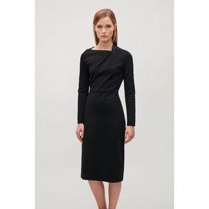 COS Drape-Neck Jersey Dress